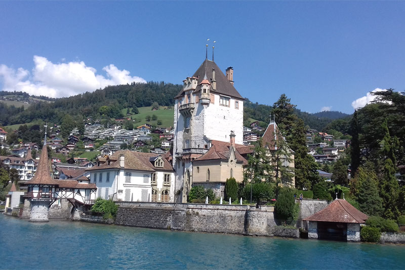 Castle on Lake Thun