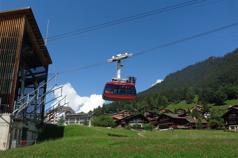 Cable car station in Wengen