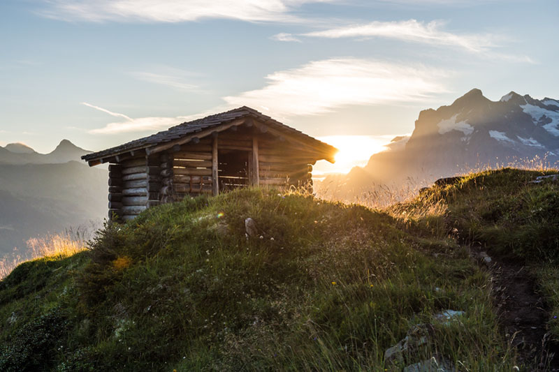 Mountain hut on the Männlichen
