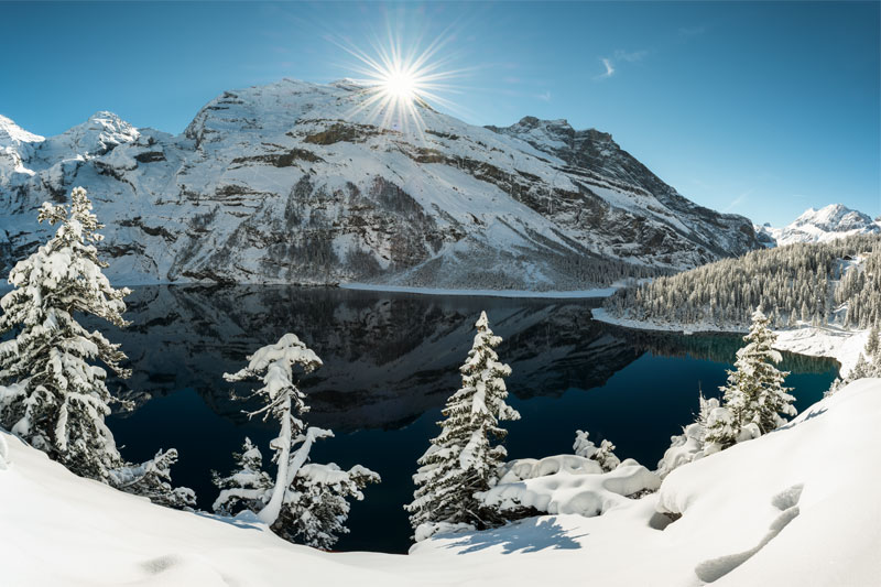 Winter view at Oeschinensee