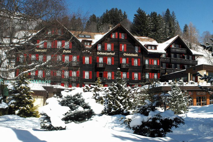 Hotel Schweizerhof in winter