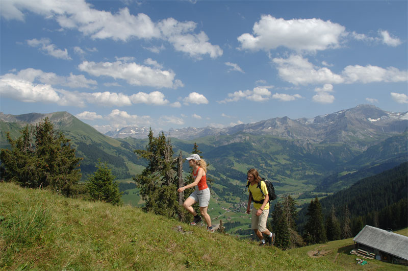 Walking near Gstaad