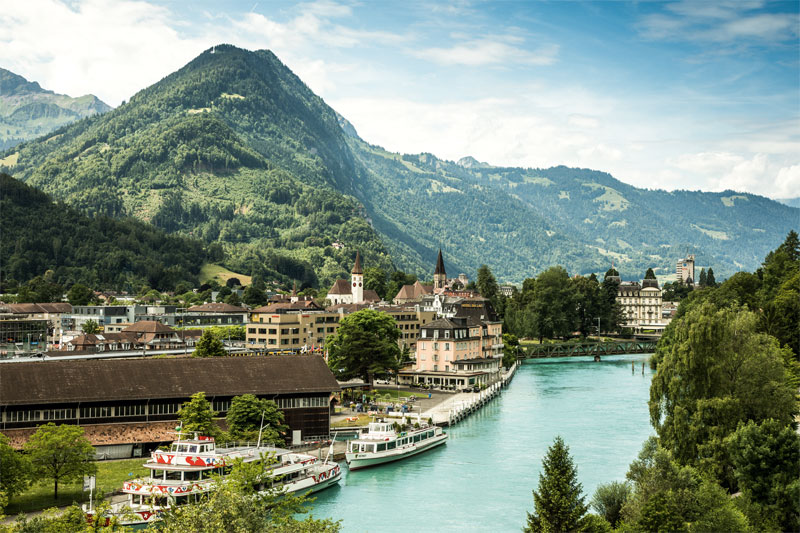 River Aare, Interlaken