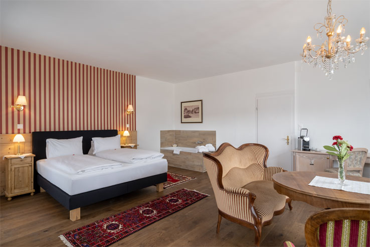 Example of a superior room at the Carlton Europe
