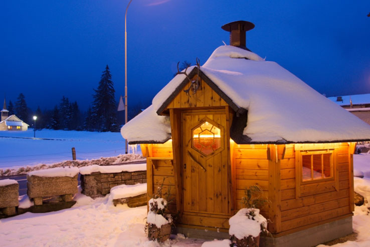 Fondue hut at the Hotel Bernerhof