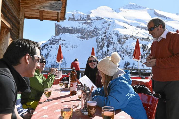 Mountain restaurant above Kandersteg