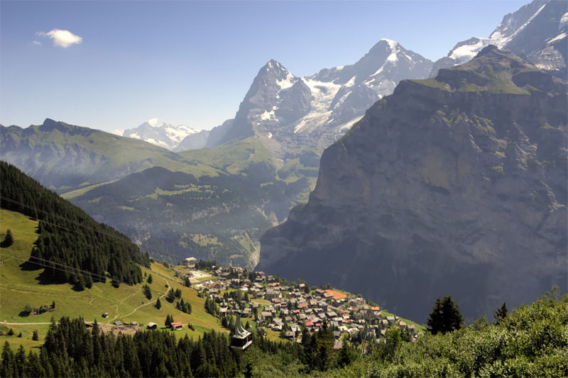 View over Mürren