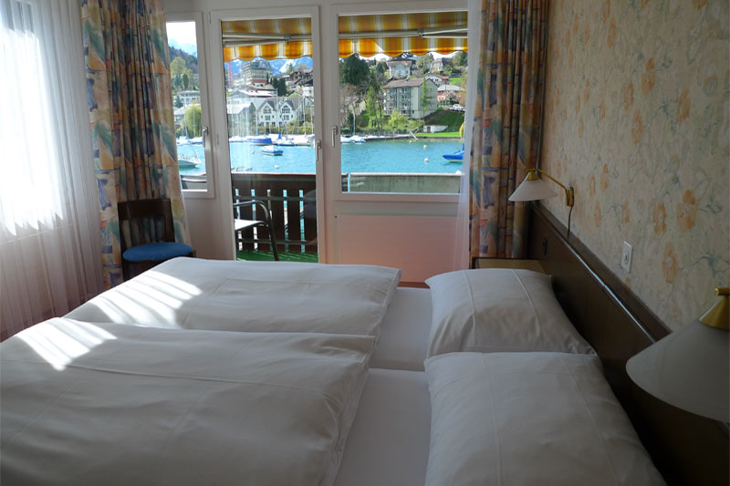 Example of a lake view room at the hotel