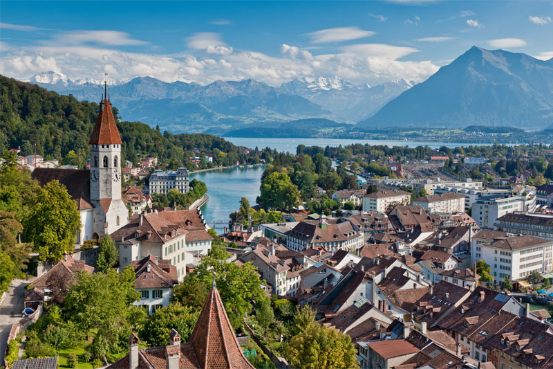 Aerial view of Thun