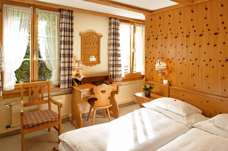 Example of a bedroom at the Alpenrose