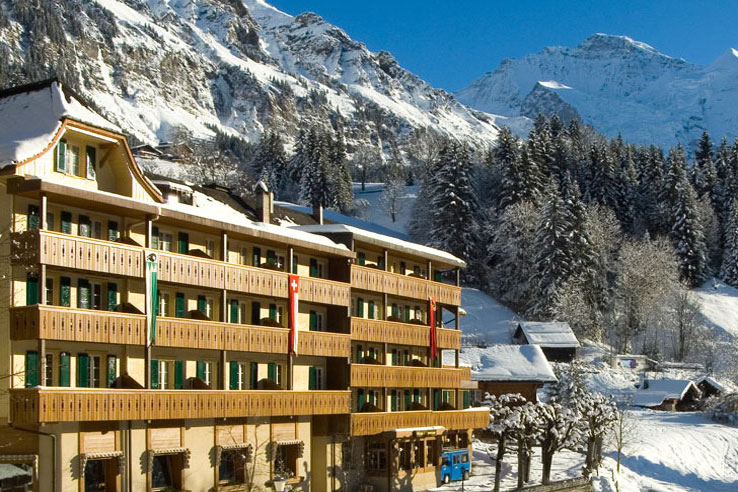 The Alpenrose is a favourite hotel in Wengen