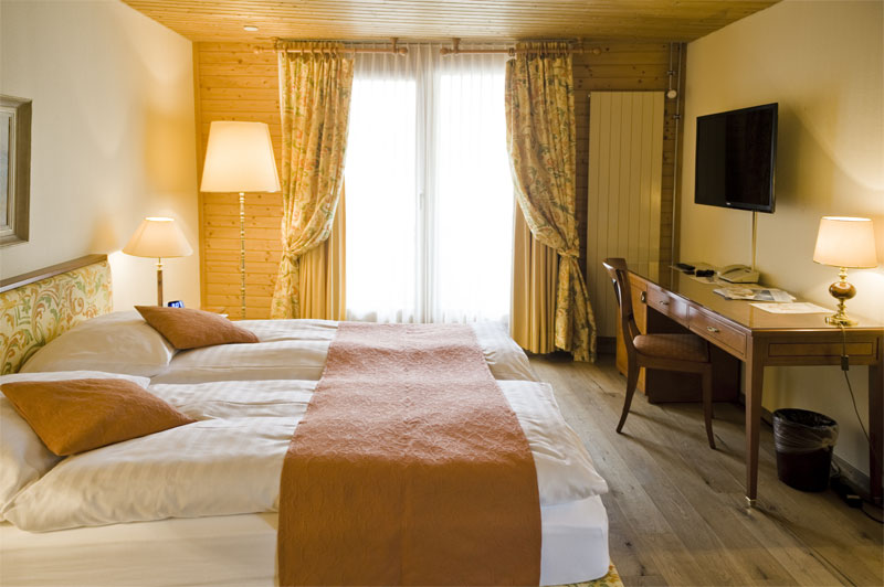 Example of a bedroom at the Silberhorn