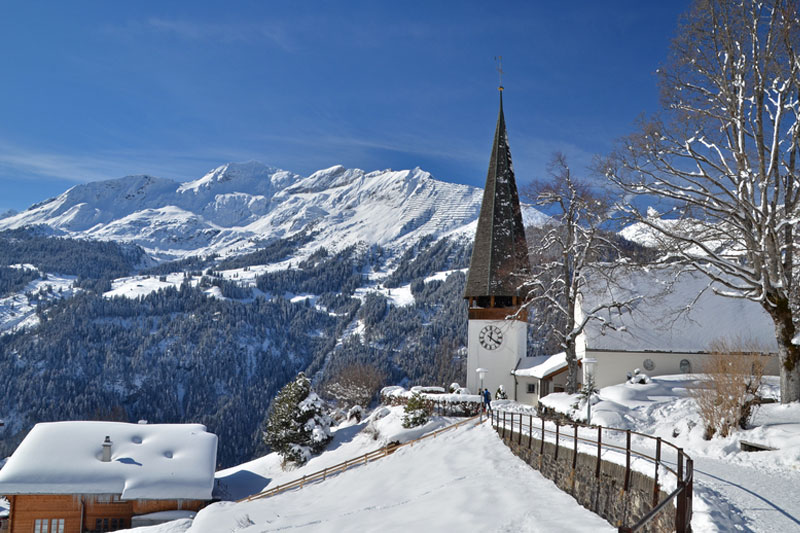 A winter's view of Wengen