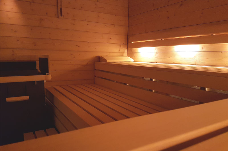 Finnish sauna at the Wengener Hof