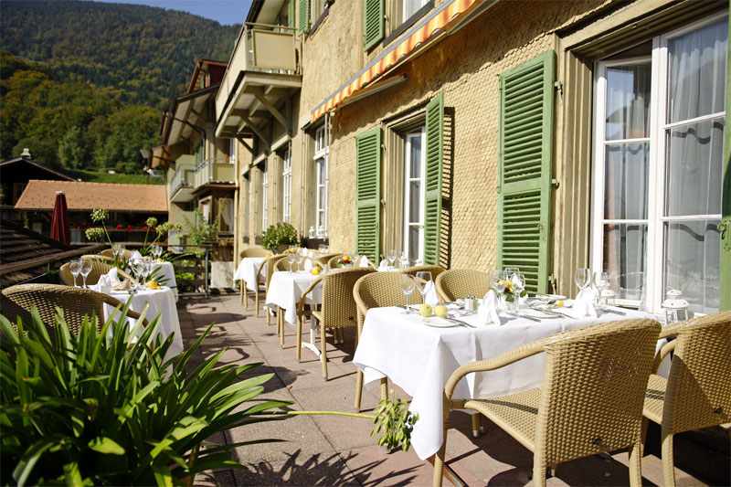 Dine on the terrace in fine weather