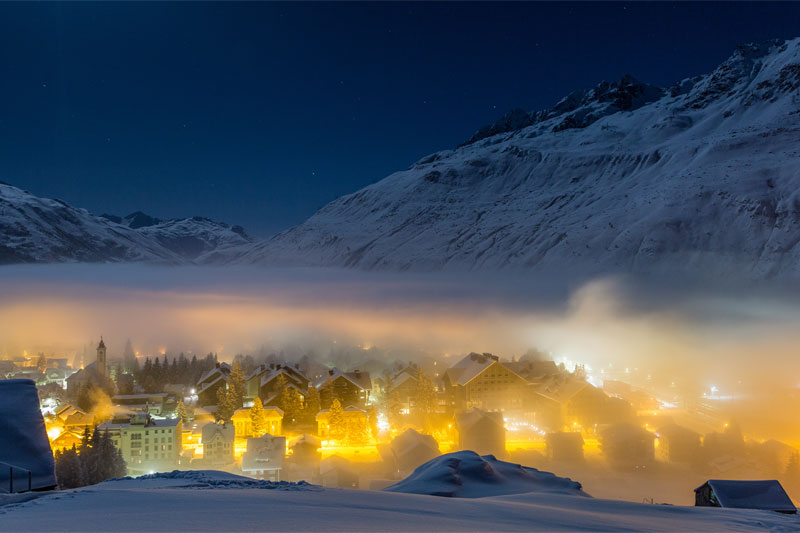 Winter view of Andermatt