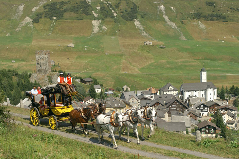 Carriage ride near Andermatt