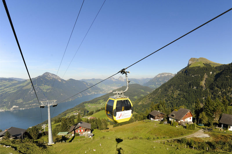 Cable car in the Klewenalp region