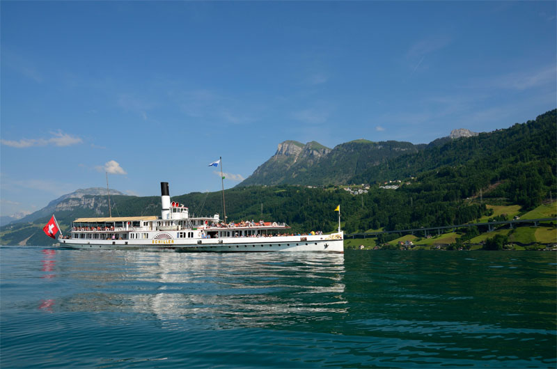 Schiller steamer on Lake Lucerne