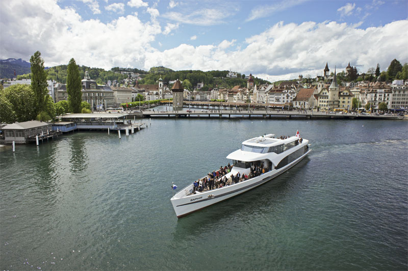 Saphir yacht on Lake Lucerne