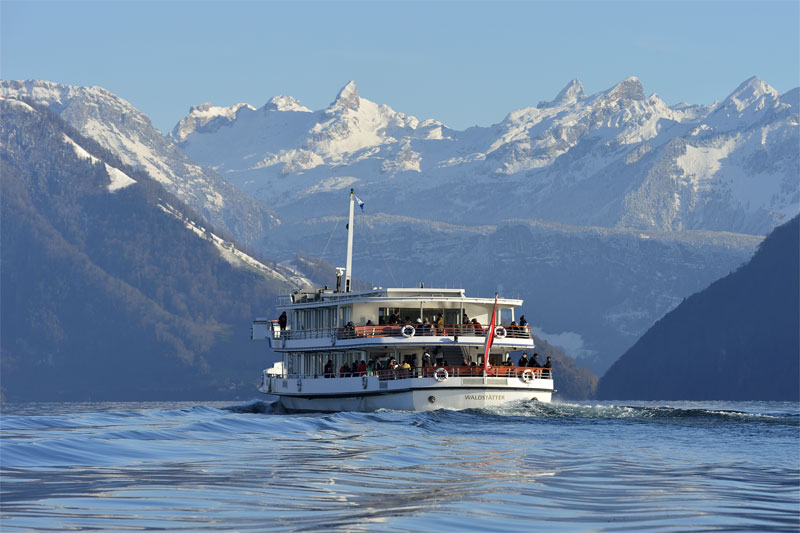 A winter's cruise on Lake Lucerne