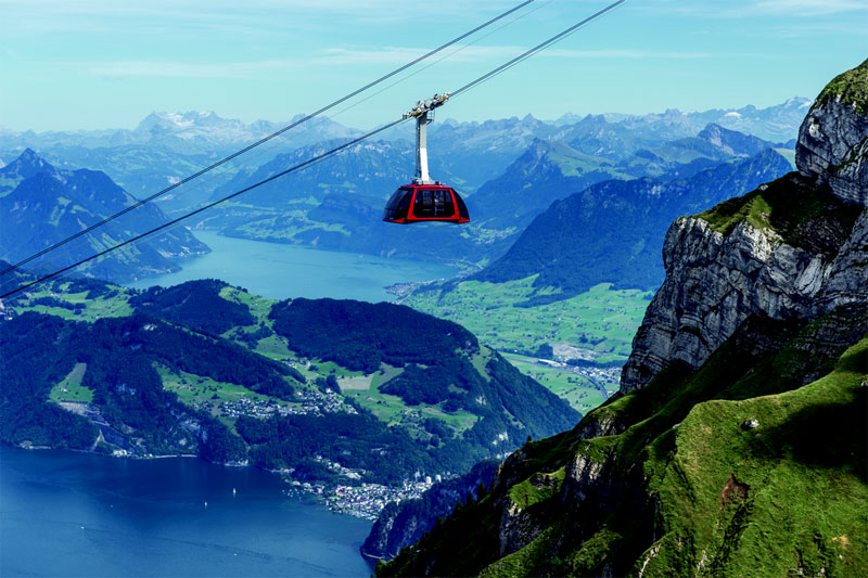 Dragon Ride cable car to Pilatus