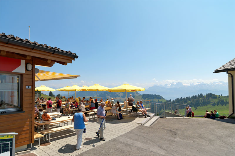 Mountain café on Rigi