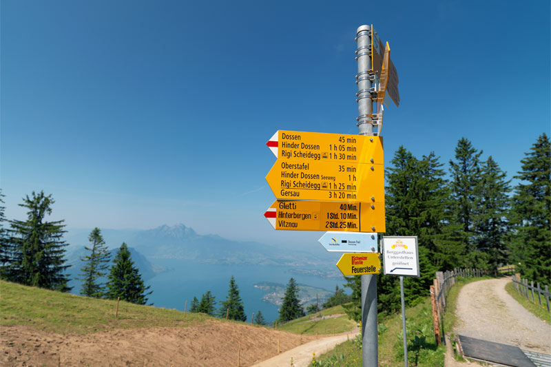 Walking on Rigi