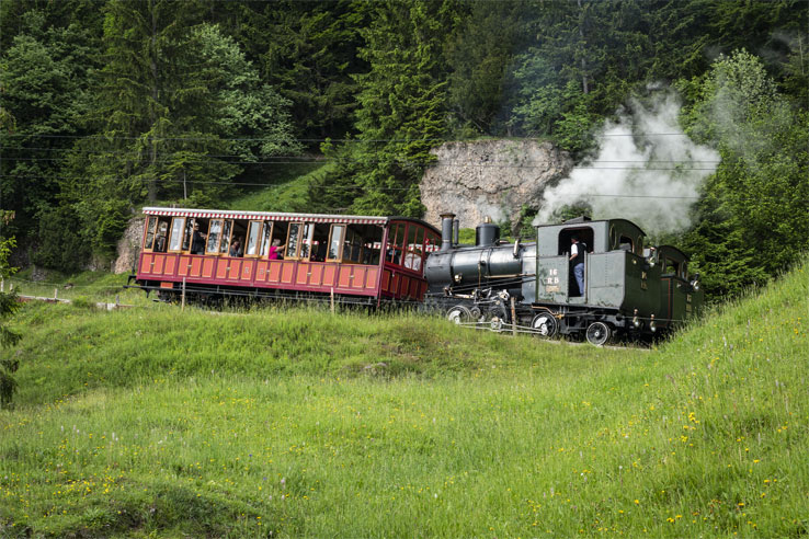 Special steam excursion on Rigi