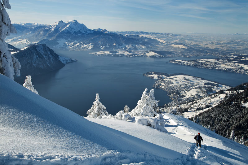 Beautiful winter views on Rigi