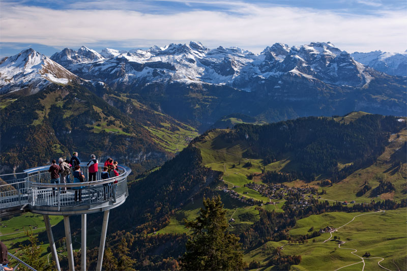 Viewing platform on the Stanserhorn