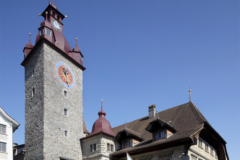 The old town hall building in Lucerne