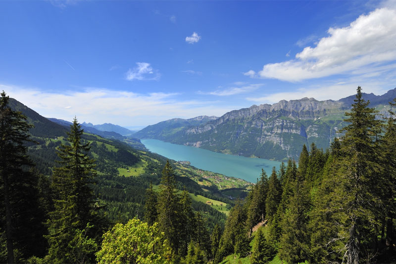 Churfirsten mountains and Walensee