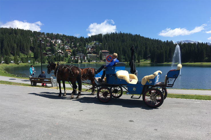 Carriage ride in Arosa