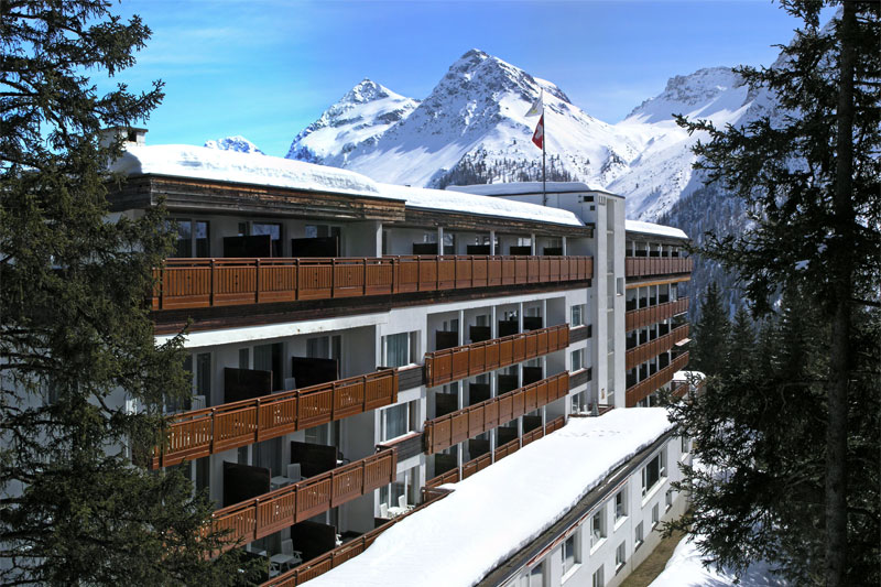 A winter view of the hotel