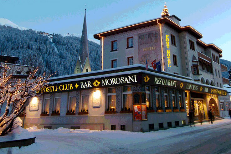 Morosani Posthotel in winter