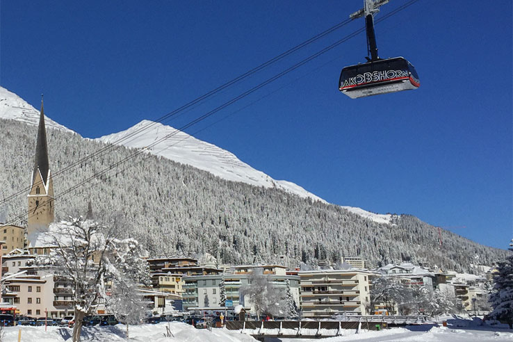 Davos and the Jakobshorn cable car