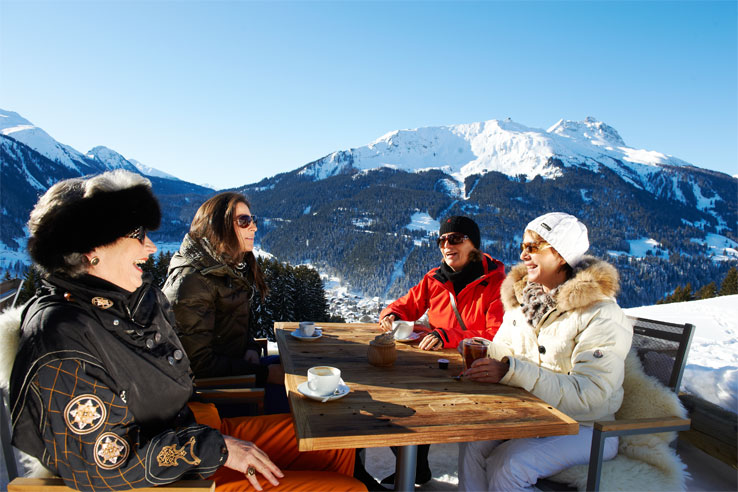 Mountain restaurant above Klosters