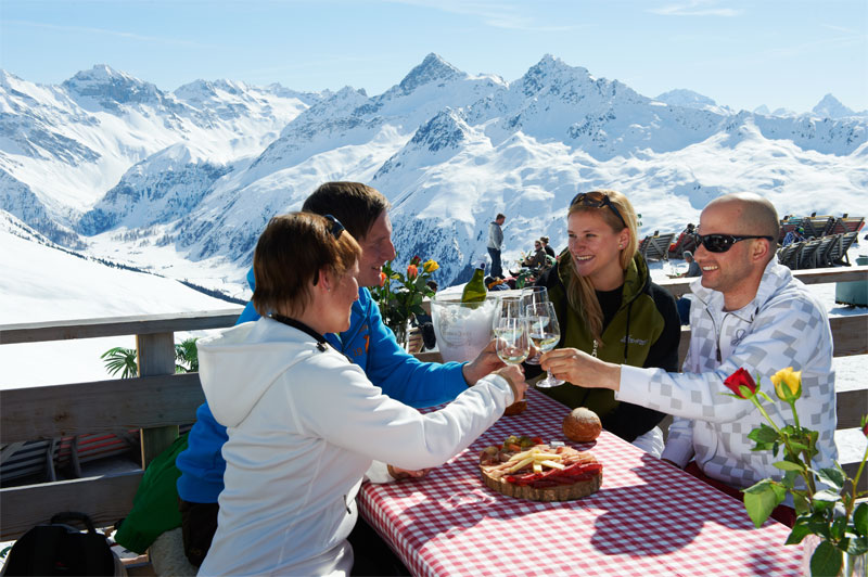 Winter lunch on the Jakobshorn