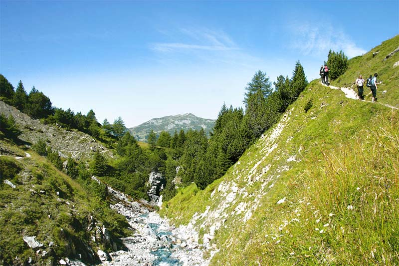 A splendid location for alpine walks