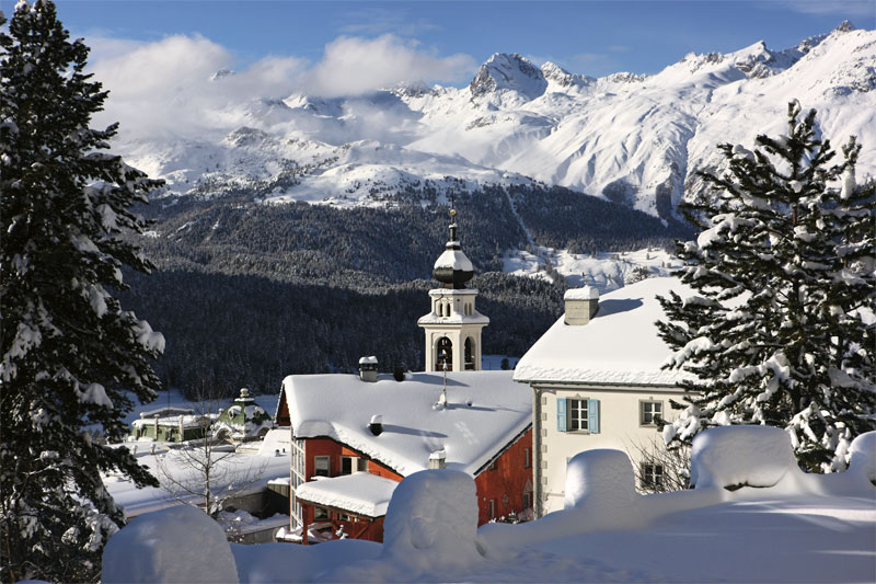 Winter's view of Pontresina