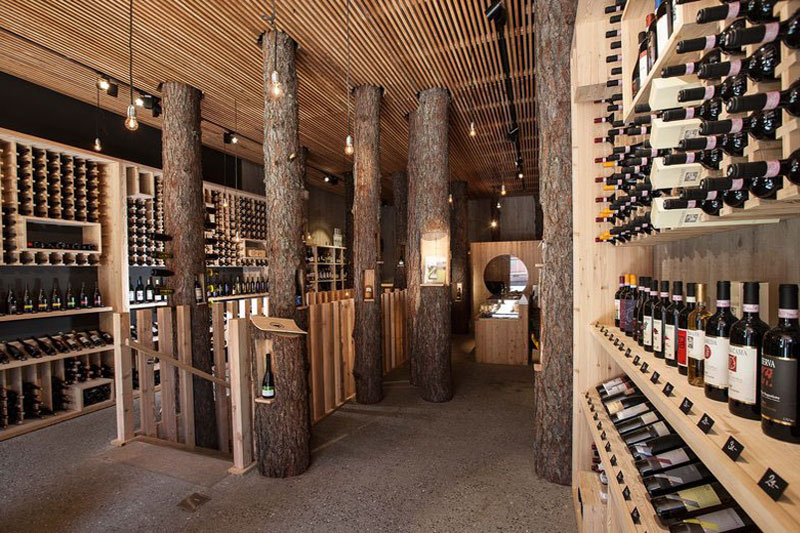 The well stocked wine cellar