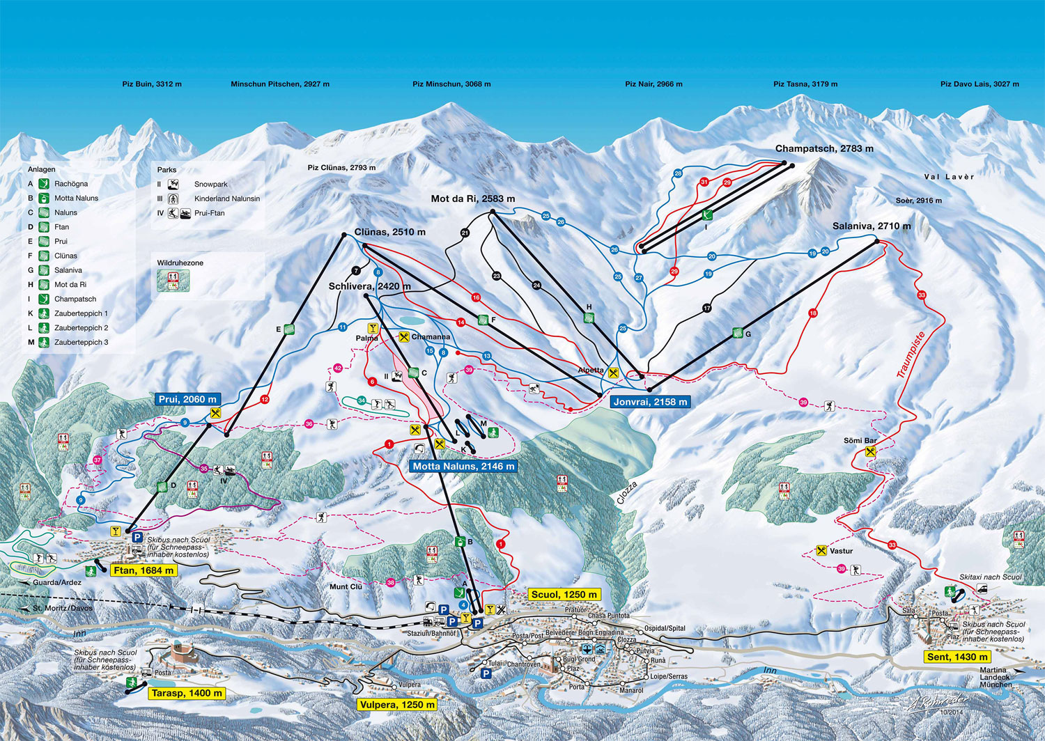 Scuol ski area