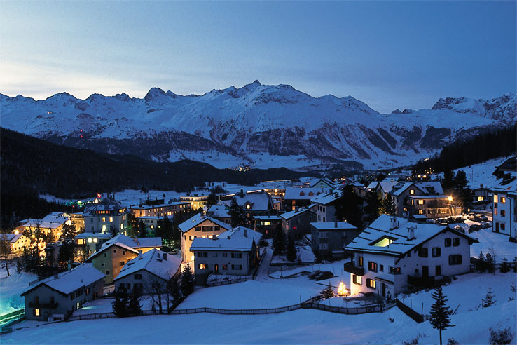 Pontresina by night