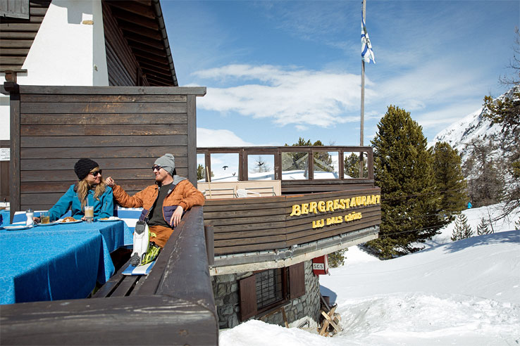 Mountain restaurant in the Engadin area