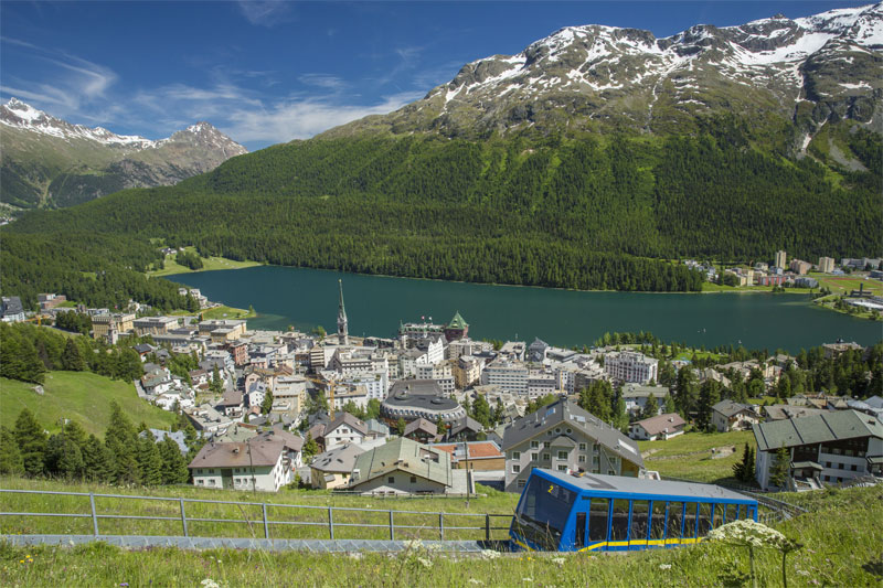 Funicular above St. Moritz