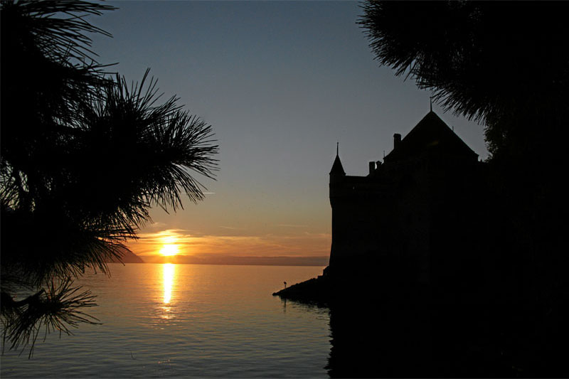 Chillon Castle by night