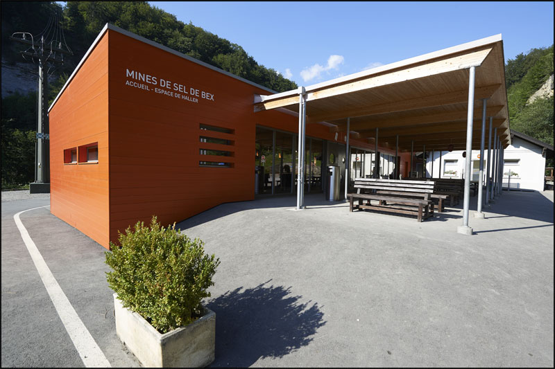 Welcome Centre at the mine