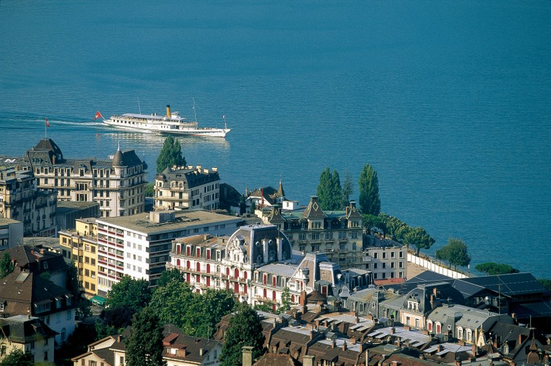 View over Montreux
