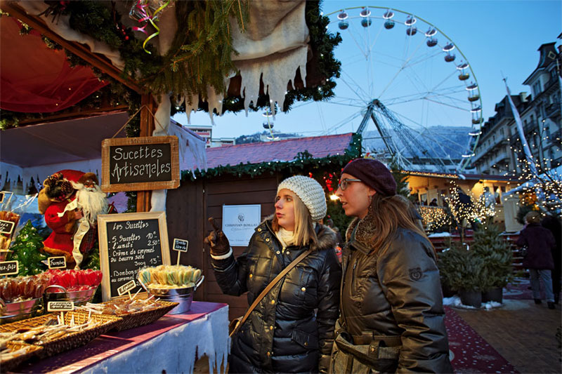 Christmas market in Montreux